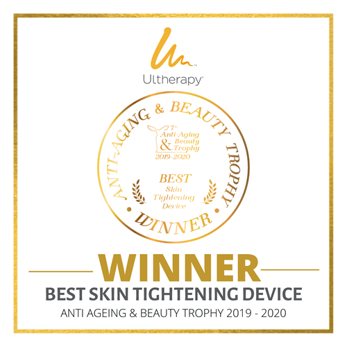 Ultherapy Winner Best Skin Tightening Device - Anti-Aging and Beauty Trophy
